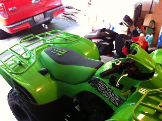 Team Green Seat Cover Kawasaki Brute Forum